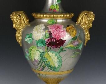 """Large 21 """"Antique 19C french porcelain Urn Vase attributed to Narcisse Vivien"""