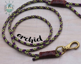 CUSTOM Orchid Leash || Climbing Rope Dog Leash || Handmade in the USA