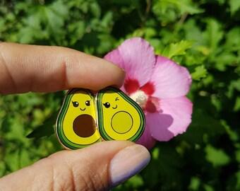 Avocado enamel pin badge | Avocado kawaii lapel pin | Avocados | Wedding gift | Best friend gift | Foodie pin | Vegan pin | gift for her