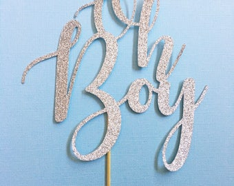 Oh Boy Cake Topper // Baby Shower Cake Topper // Baby Boy Cake Topper