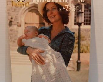 Knits & Crochet In Elite 7 Designs Patterns Baby Children By Phentex