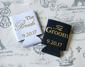 Engagement gift - personalized wedding gift - wedding can holders - Mr and Mrs gift - wedding gift set - couples gift - bridal gifts