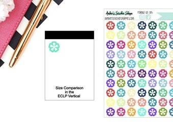 Multicolored or Black Mini Astrid Icon Planner Stickers