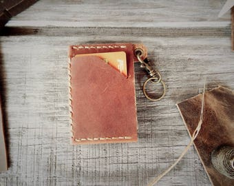 Handcrafted Minimalist Wallet with Key Clip