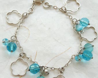 925 silver bracelet with turquoise crystals