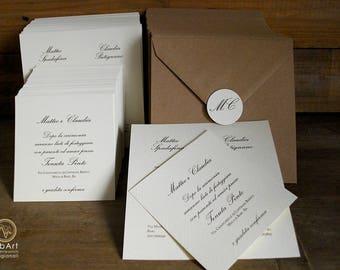 Wedding invitation Country participation