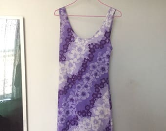 Purple Hawaiian Micro Mini Dress