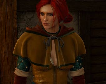 Triss Merigold cape with hood hoodie cosplay Witcher