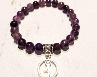 """Amethyst """"Tree Asana"""" Gemstone Bracelet"""