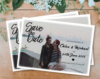 Personalised Photo Save The Date - Printable Download - PDF Download
