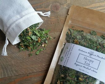 Organic Sleepy Tea, Loose Leaf Herb Tea Blend, Insomnia Relief Tea, Calming Herb Blend, Bedtime Herbal Tea, Sleep Herb, Organic Dried Herbs