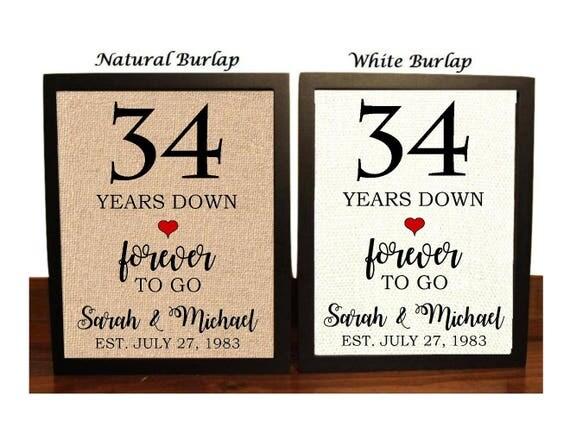34th Wedding Anniversary Gifts
