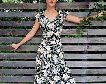 80s Floral Maxi Dress, Vintage Cut Out Dress, Floral Cut Out Dress, Floral Maxi Dress, Vintage Floral Dress, Medium Floral Maxi Dress