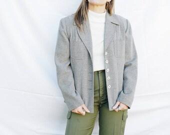 80s Gray Blazer, Larry Levine Blazer, Gray Blazer, Womens Blazer, 80s Blazer, Small Blazer, Small Gray Blazer, Small Womens Blazer