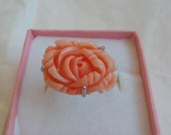 Mediterranean Coral rose Ring