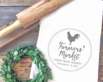 Farmers Market Flour Sack Towel - Fall Tea Towel - Autumn Tea Towel - Fall Gift - Farmhouse Tea Towel - Farmhouse Style - Farmhouse Decor