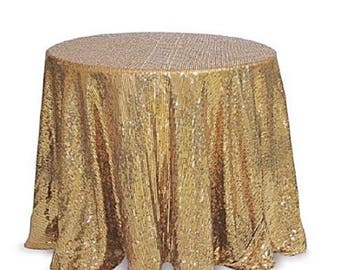 SALE! Gold sequin tablecloth, table runner, table overlay. Wedding tablecloth, cake table, baby shower, sequence, wedding decorations, party