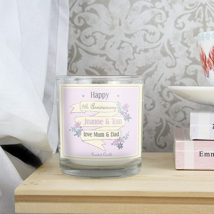 Personalised Scented Candle Gift For Teacher Housewarming Present