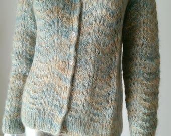 1960s Nat Kaplan Couture   Vintage Mohair Cardigan Sweater  