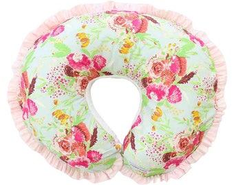 Fiona's Floral Nursing Pillow Cover | Watercolor Floral Nursing Pillow Cover