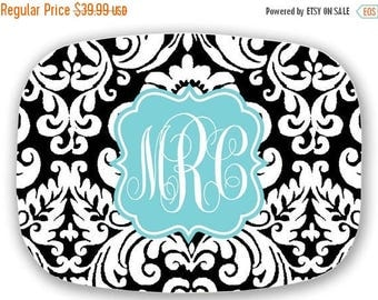 SALE Monogram Melamine Platter - Custom Pattern, Color, Name & More - Personalized Serving Tray Housewarming Gift - Design Your Own