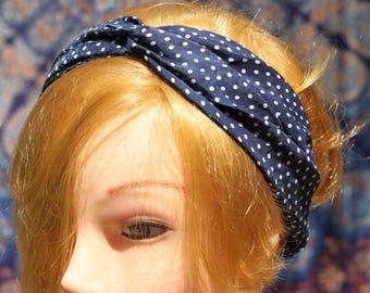 Hair band-Turban-vintage Range-polka dot Headband earwarmer-cross-Range-Fashion Accessory