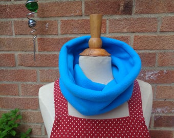 Turquoise Polar Fleece Cosy Scarf - Snood -  Loop Scarf - Winter Scarf - Warm Scarf - Neck Warmer - Adult - Children - Teenager