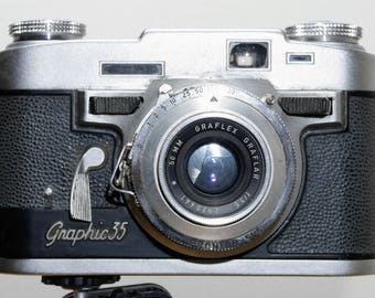 Vintage 35mm Graflex Graphic 35 Camera - Made in Rochester NY