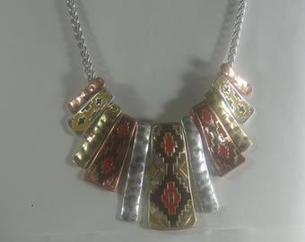 P-40 vintage necklace and earrings