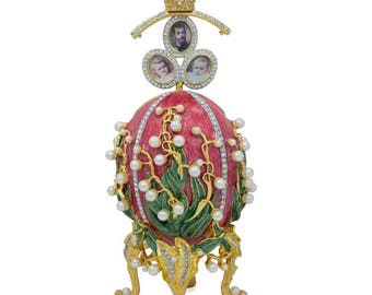 """1898 Lilies of the Valley Faberge Egg 8"""""""