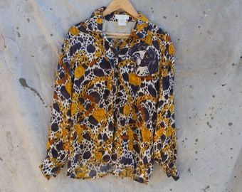 Escada Dog Chain Silk Blouse MEDIUM/LARGE