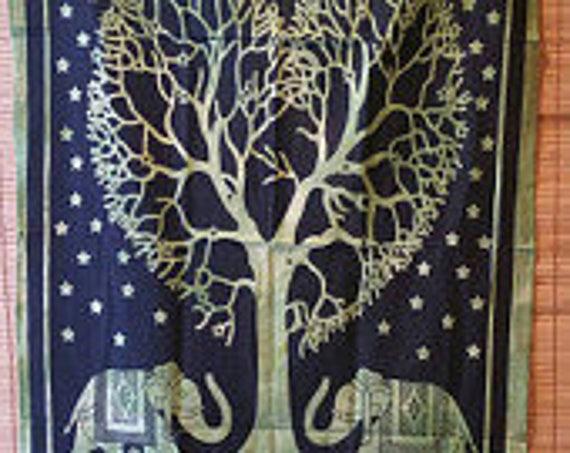 Elephant Tapestry/ Wall Tapestry/ Boho Bohemian Tapestry/ Hippie wall tapestry/  Forest Tapestry Print Tapestry