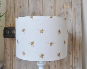 Sepia Bee lampshade