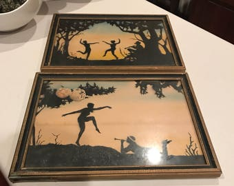 Super fun set of vintage shadow pictures four clover