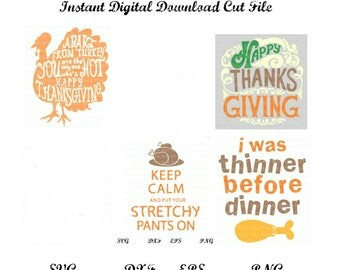 Funny and Cute Amazing Thanksgiving Cut File Bundle All the favorites SVG, DXF, PNG, EpS
