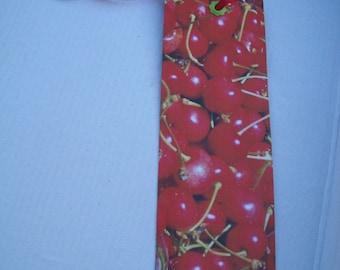 Bookmark paper cherry fruit theme
