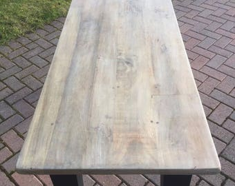 Rustic Table with Black Painted Legs