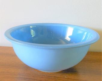 Blue Pyrex Clear Bottom 323 Nesting Bowl, Blue Pyrex 323, Blue 1.5 Quart Mixing Bowl, 1.5 Liter Mixing Bowl