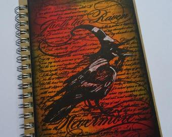 Raven Notebook, Crow Journal, Mini journal, Pocket notebook, Pagan gift, Halloween book, Birthday present, Christmas gift, Stocking filler