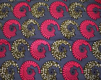 African Print Fabric by the yard - Ankara African Print - African Fabric - Wax Print Fabric  - African Print - Fabric per yard