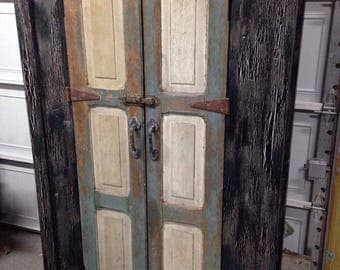 Armoire vintage style primitive cabinet Just Discounted