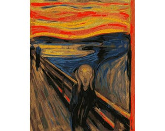 Paint by numbers kit SCREAM EDVARD MUNCH