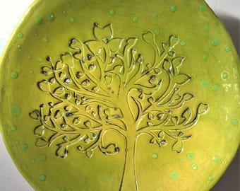 "Plate ""Green Tree"""