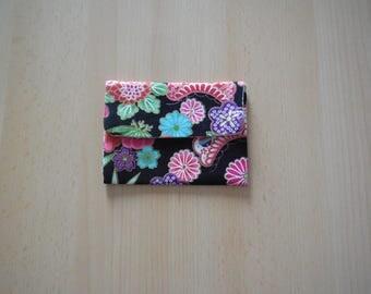Japanese motif cotton card holder
