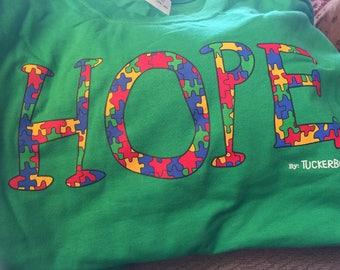 Long Sleeve Green HOPE T
