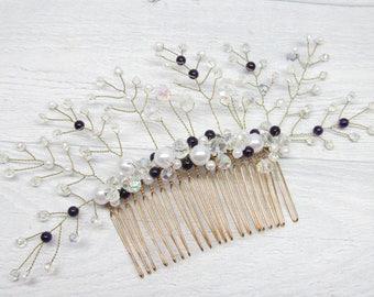 Wedding gift Mom gift Hair jewelry Romantic wedding Pearl hair accessori Wedding comb Hair comb wedding Crystal hair comb Prom hair bridal