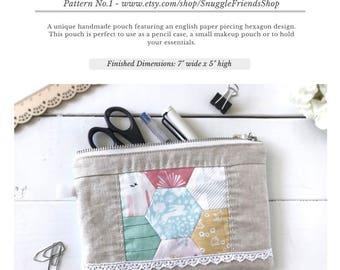 PDF Pattern Storyteller Hexie-Pouch