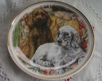Royal Vale Fine Bone China Dogs Plate Collectors Plate
