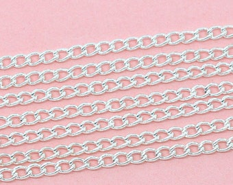 CHAIN chain silver 4x3mm open links