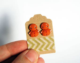 Studs Gingerbread Christmas fimo-collection Christmas Cuties